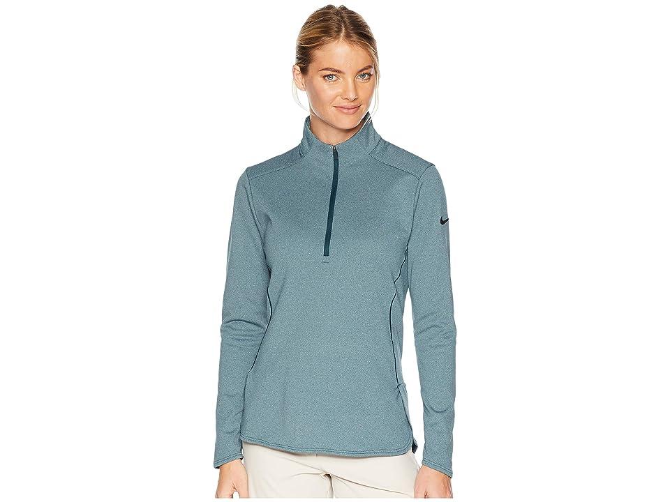 Nike Golf Dry Long Sleeve Top (Midnight Spruce/Heather/Black) Women's Clothing