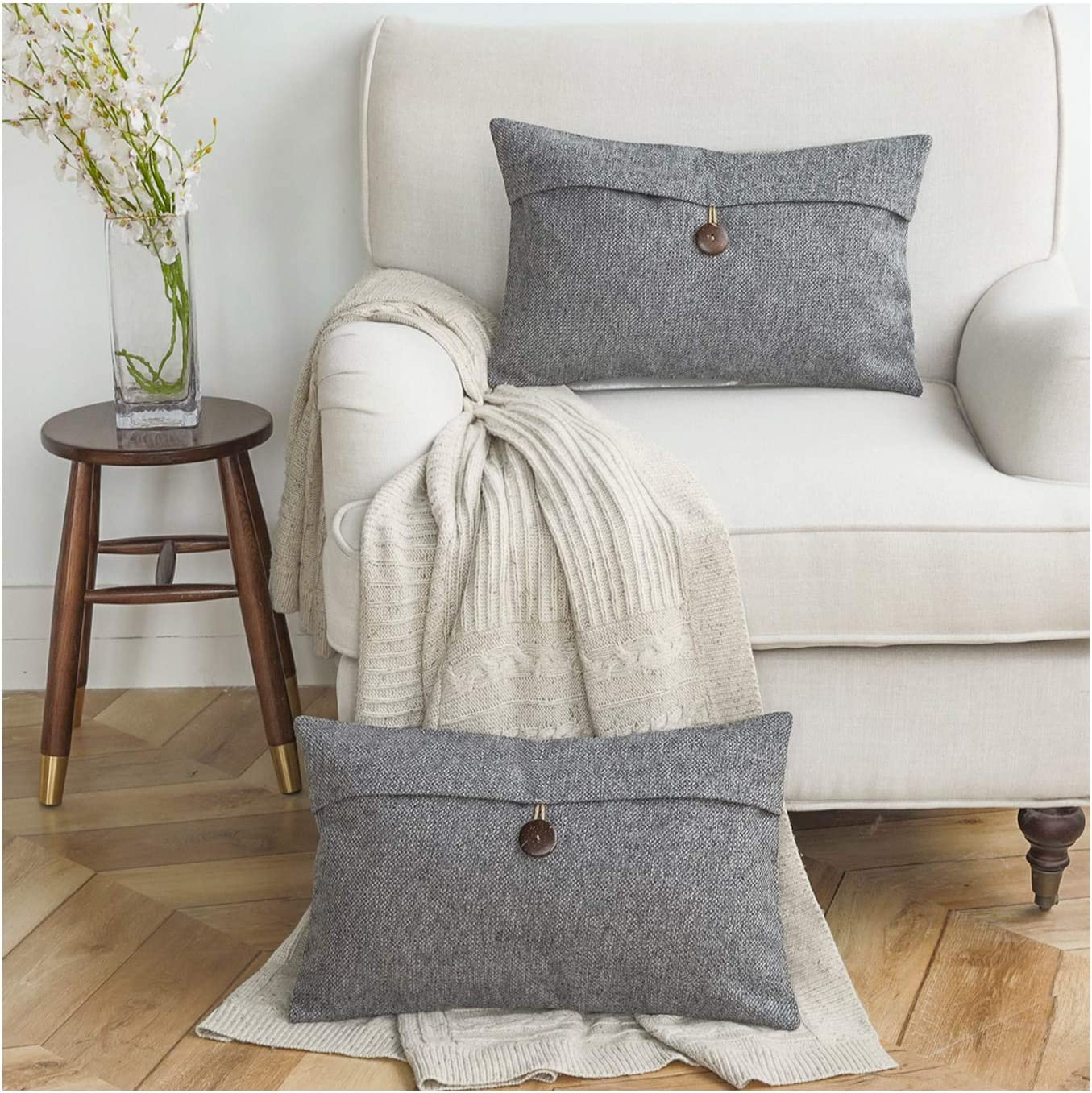 Azume Dark Grey Throw Pillow Couch Line for Covers Popular popular Pillows Regular dealer