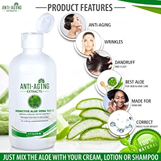 Aloe Vera Gel For Face Skin Care and Hair Care Natural Concentrate Made For Skin Care Products: Mix A Few Drops in Hand With Lotion Cream or Shampoo