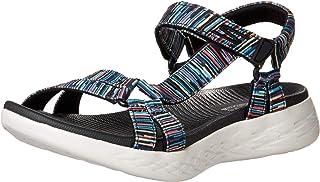 Skechers On-The-go 600, Sandalias de Punta Descubierta Mujer