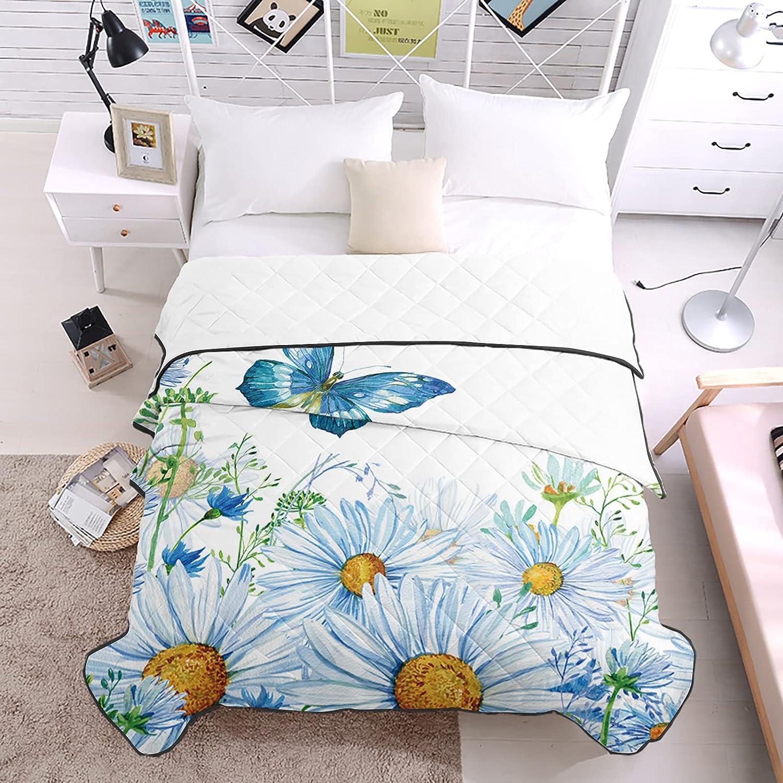 Bedding Popular Tucson Mall Duvets Blue Butterfly Spring Chrysanthemum Flower Bquet