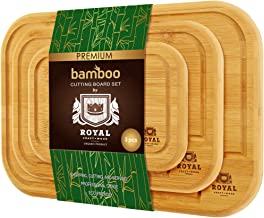 Bamboo Cutting Board with Juice Groove (3-Piece Set) - Kitch