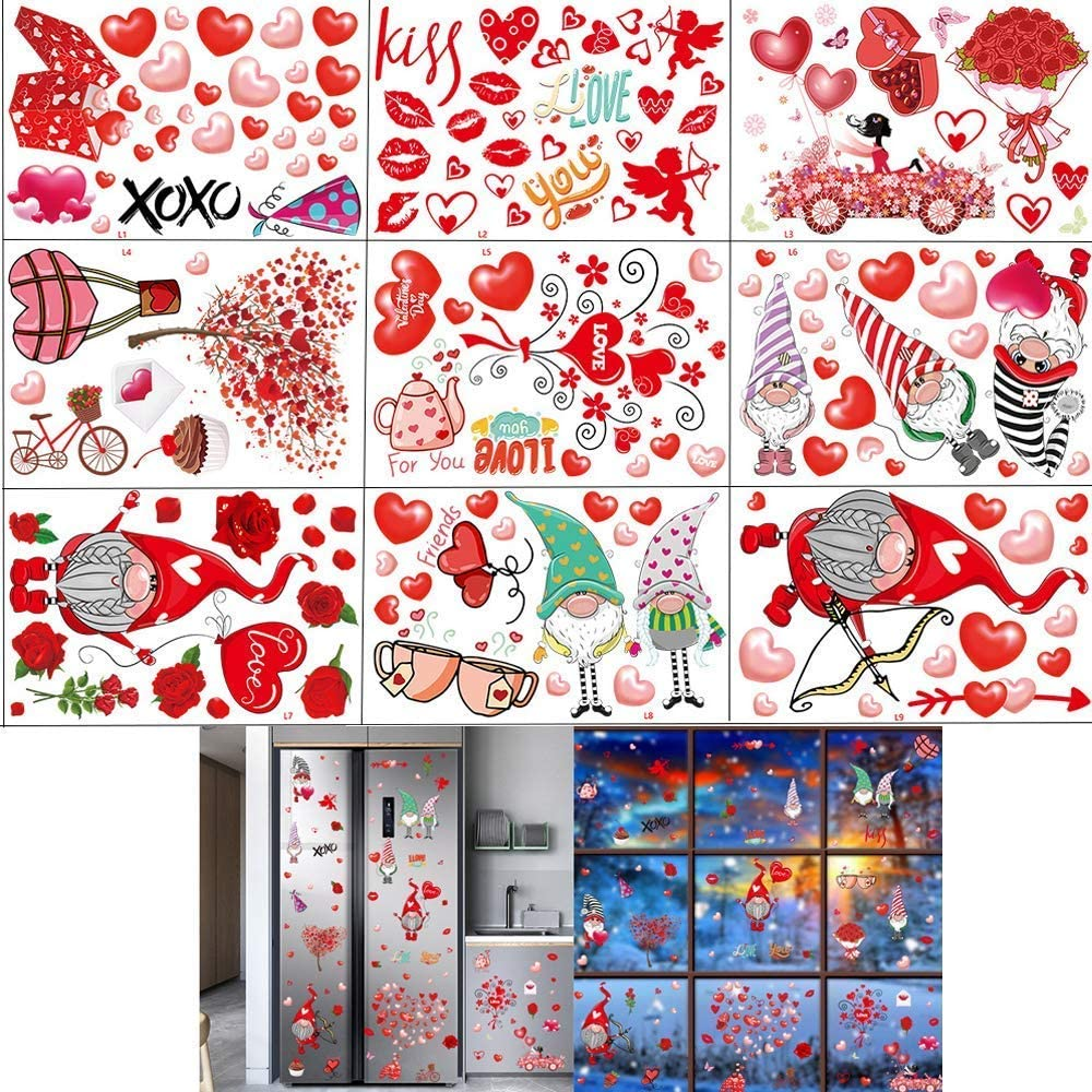 HeyMoly St. Valentine's Day Window Clings OFFer Sheets 9 Decorations Chicago Mall