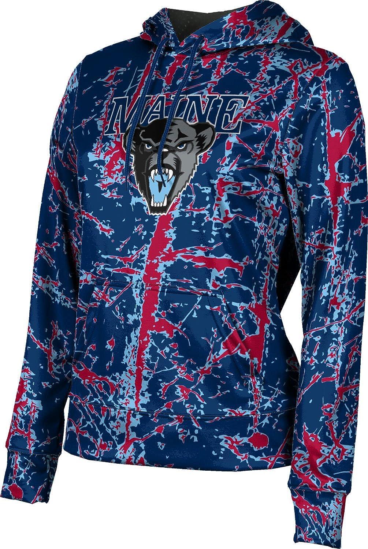 ProSphere University of Maine Girls' Pullover Hoodie, School Spirit Sweatshirt (Distressed)