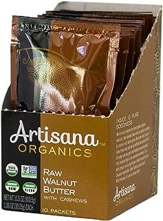Artisana Organics Raw Walnut Butter with Cashews, 10 Snack Pouches