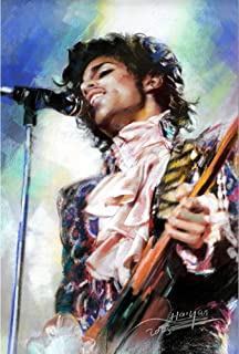 Prince 3D Poster Wall Art Decor Print | 11.8 x 15.7 | Lenticular Posters & Pictures | Memorabilia Gifts for Guys & Girls Bedroom | Greatest Hits CD Memorabilia Hot Rock Pop Music Star Purple Rain