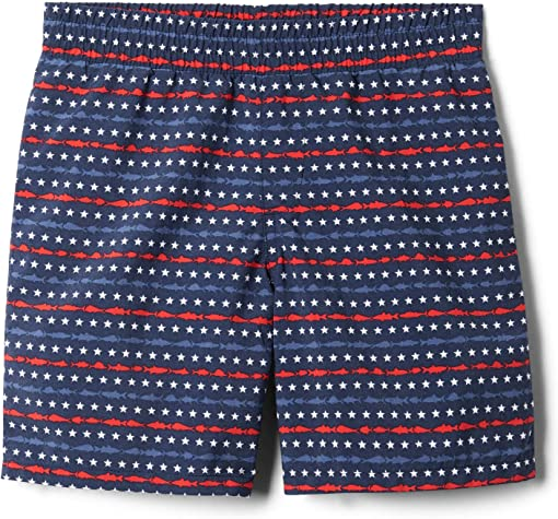 Collegiate Navy Merica Fish Stripe