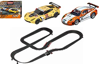 Carrera GO!!! GT Competition 1:43 Scale Electric Powered Slot Car Race Track Set System 28 Feet