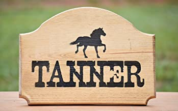Personalized Horse Stall Name Plate - Horse Stall Plate - Horse Stall Sign - Stable Stall Sign - Personalized Horse Stall Name Plate