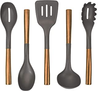 536201 Copper Plated Cooking Utensil Set, 5 Piece