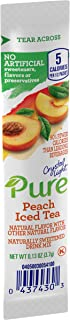 Crystal Light Pure Peach Iced Tea Drink Mix (84 On the Go Packets, 12 Boxes of 7)