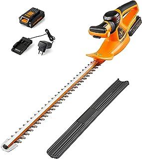 LawnMaster CLHT2452 Batteri häcksax 24V 2,0 Ah litiumbatteri häcksax, bladlängd 52 cm, avstånd mellan blad 15 mm, dubbelve...