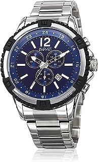 ساعة اوغست شتاينر للرجال بمينا زرقاء وبسوار ستانلس ستيل - AS8229SSBU