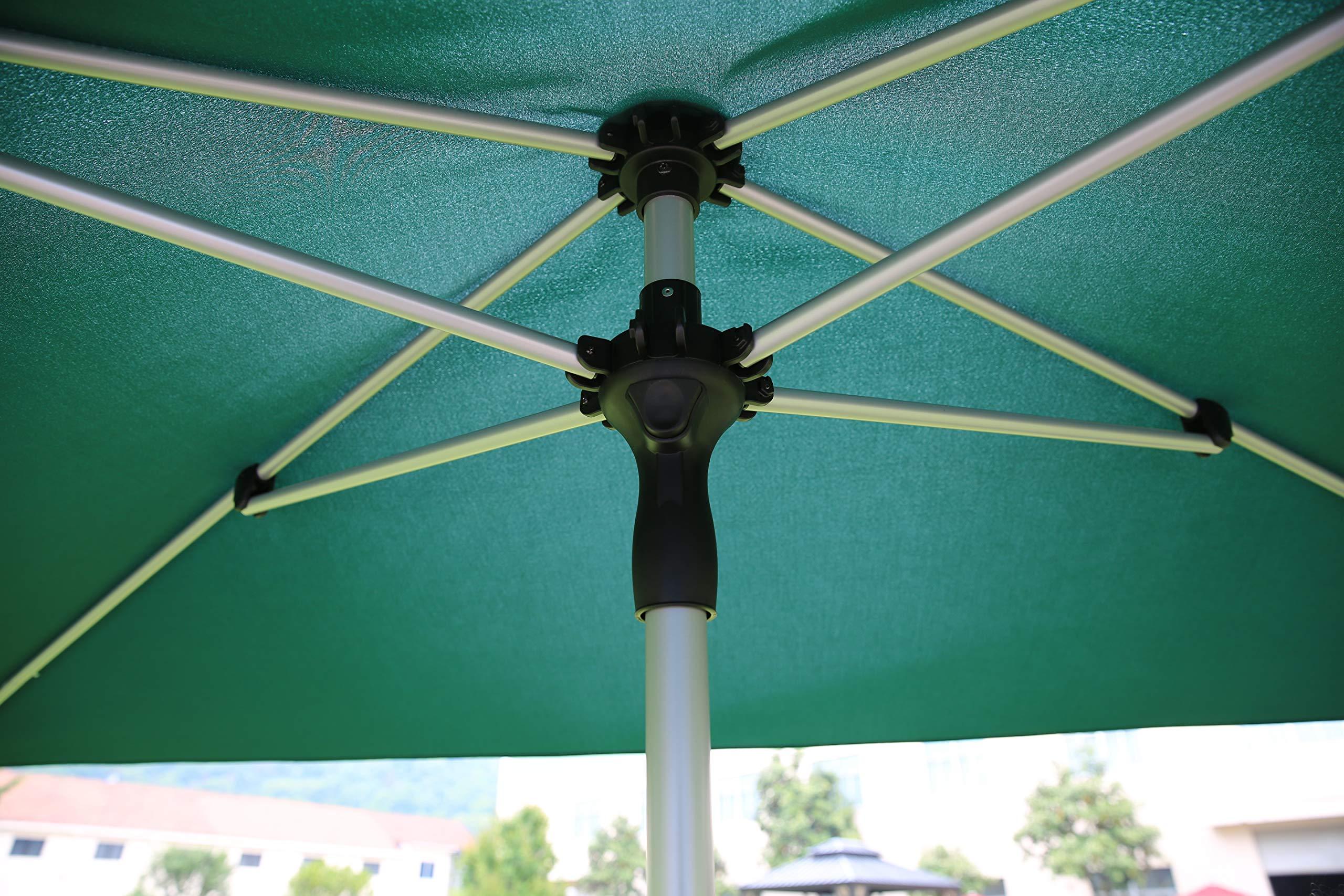 SORARA Porto Parasol Sombrilla Jardin, Verde, 300 x 200 cm (3 x 2 ...