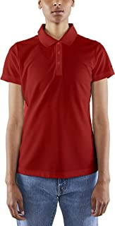 women's red polo shirts
