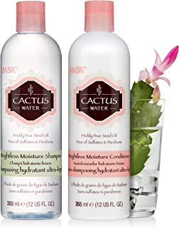 HASK CACTUS WATER Shampoo and Conditioner Set Weightless Moisture for all hair types, color safe, gluten free, sulfate free, paraben free - 1 Shampoo and 1 Conditioner