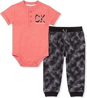 Calvin Klein Baby Boys 2 Pieces Bodysuit Set Pants
