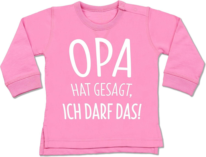 Baby Body Kurzarm f/ür Jungen und M/ädchen Spr/üche Baby Shirtracer Opa hat gesagt ich darf das