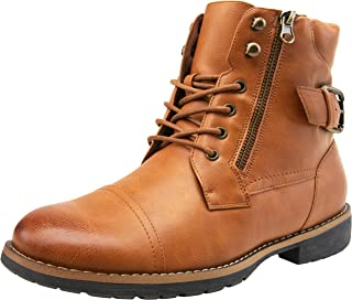 Men's Casual Combat Boots Motorcycle Chukka Oxfords Ankle Dress Boots