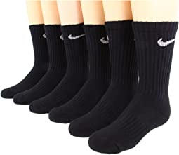 Nike Kids Banded Cotton Crew 6-Pair Pack