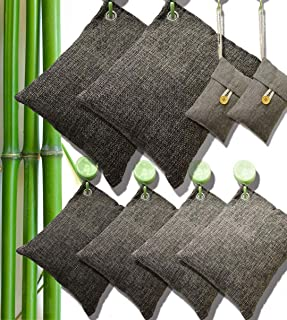 DTXDTech Bamboo Charcoal Air Purifying Bags Activated Charcoal Bags Odor Absorber Moisture Absorber Car Air Freshener Shoe...