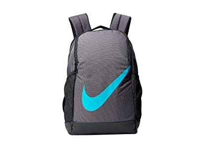 Nike Kids Brasilia Backpack (Little Kids/Big Kids) (Thunder Grey/Black/Teal Nebula) Backpack Bags