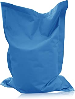 alibey Pouf rectangulaire pour enfant, coussin d'assise géant, 15couleurs, pour l'intérieur et l'extérieur, bleu clair, X...