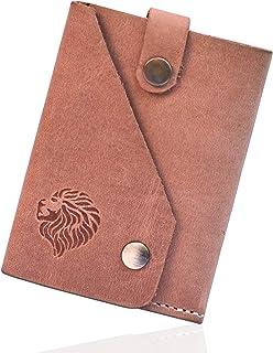 Louis Pelle RFID Blocking Sleek and Slim Front Pocket Genuine Leather Mens Minimalist Wallet