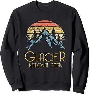 Best Vintage Glacier National Park Montana Retro Sweat Shirt Review