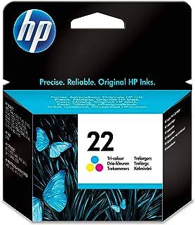 HP 22 C9352AE, Tricolor, Cartucho de Tinta Original, compatible con impresoras de inyección de tinta HP Deskjet D1530, D15...