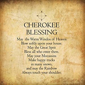 Fastasticdeals Cherokee Blessing Funny Spiritual Novelty Metal Sign Wall Decor Paper Background