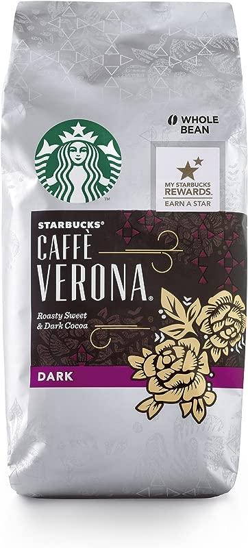 Starbucks Caff Verona Dark Roast Whole Bean Coffee 12 Ounce Bag Pack Of 6