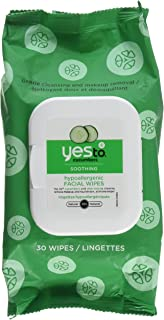 Yes to Cucumbers Facial Towelettes - Soothing - Hypoallergenic - 30 Count - Case of 3 by Yes To