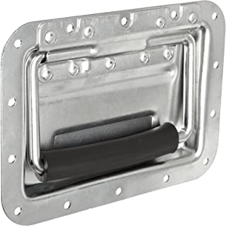 Zinc Plated Finish 4-17//32 Mounting Hole Center to Center Silver Color Folding Style with Mounting Plates Pack of 1 Monroe Steel Load Rated Pull Handle