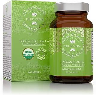 Organic Amla Vitamin C Capsules – USDA Organic Certified | Whole Food Plant Based Vitamin C | Amalaki Supplement | Avoid S...