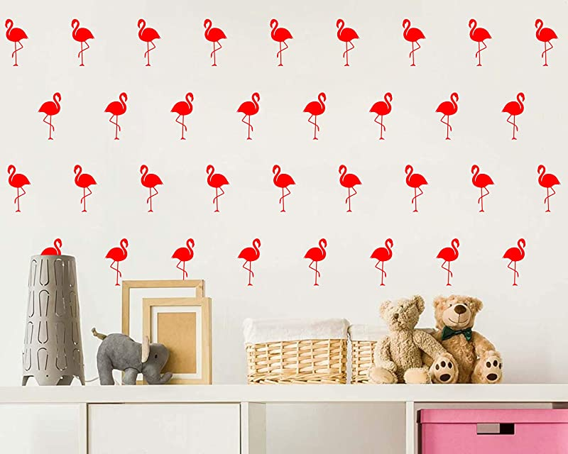 Flamingo Wall Decal Home Decor Office Decor Nursery Wall Decor Removable Vinyl Wall Stickers For Kids A10 Fire Red