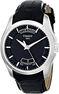Tissot - T0354071605100 - Reloj analógico de caballero de cuarzo con correa de piel negra