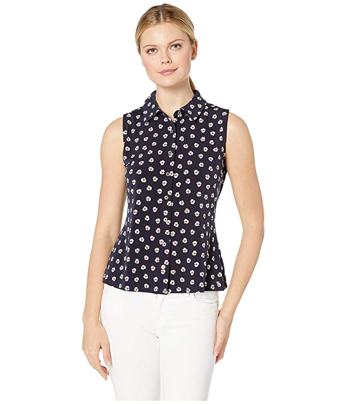 daea37f4e193 Tommy Hilfiger Floral Print Button Down Sleeveless Knit Top at 6pm