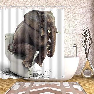 180 X 180cm Shower Curtain Waterproof Bath Curtains Elephant Print