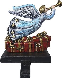 Lulu Decor, Cast Iron, Blue Fairy/Angel Christmas Stocking Holder, Strong and Durable Hook, Measures 6x5 (Fairy/Angel)