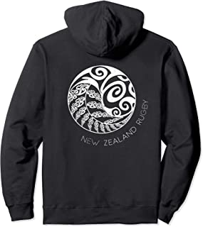 New Zealand Rugby (Design on Back) Maori Inspired Pullover Hoodie