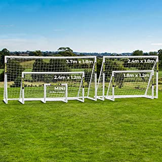 FORZA PVC Backyard Soccer Goals Perfect First Soccer Goals for Kids | Miniroos Soccer Goals | Rugby/Soccer Combination Goal | Choose Your Size [Net World Sports]
