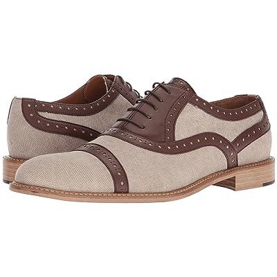 Right Bank Shoe Cotm Indy Washed Canvas Oxford (Beige) Men