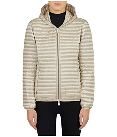 Save the Duck Iris Hooded Jacket (Sand Beige) Women