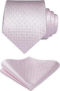 HISDERN hombres corbata panuelo boda lunares corbata & Pocket Square Set