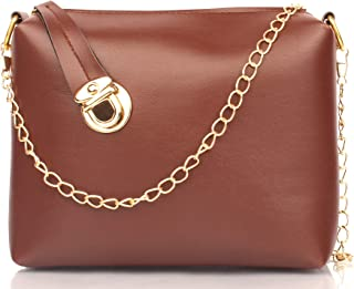 Mammon Women's Sling Bag (slg-C-lock_Tan Brown)