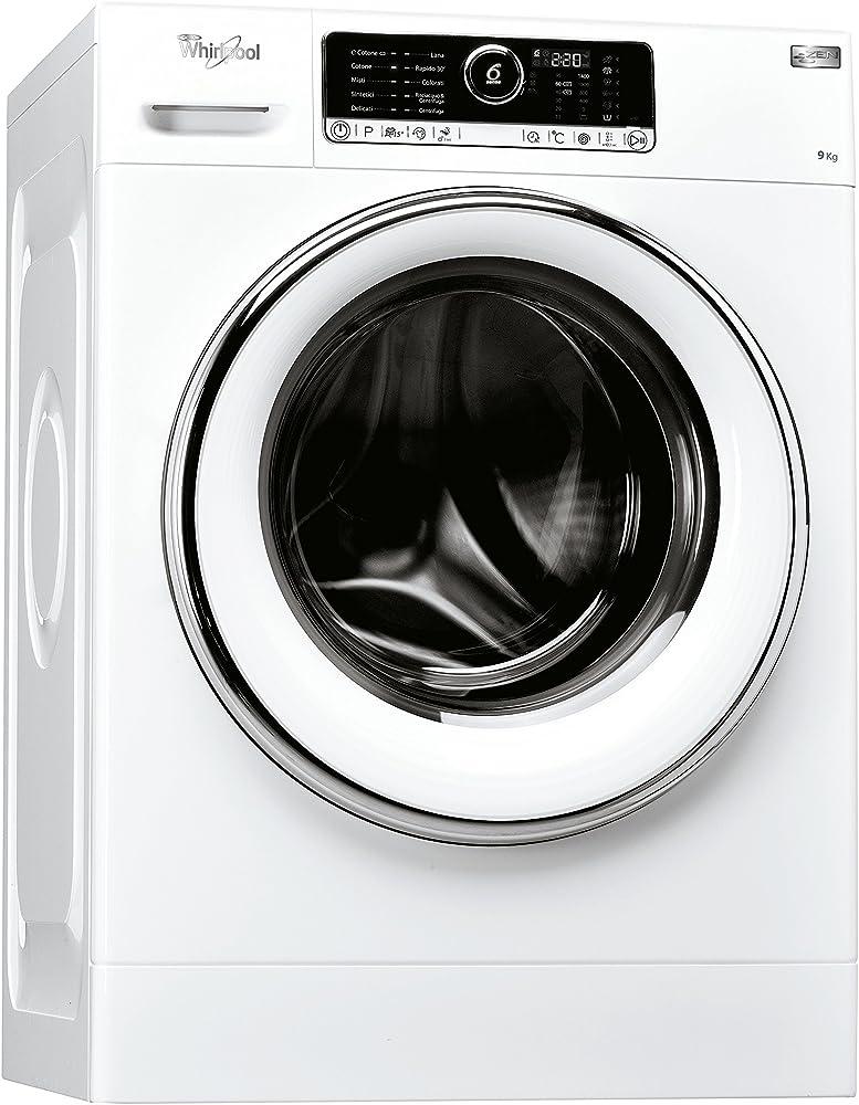Whirlpool,lavatrice a carica frontale, a libera installazione, a+++-40%, 9kg, 11 programmi, 1400 giri/min FSCR90422
