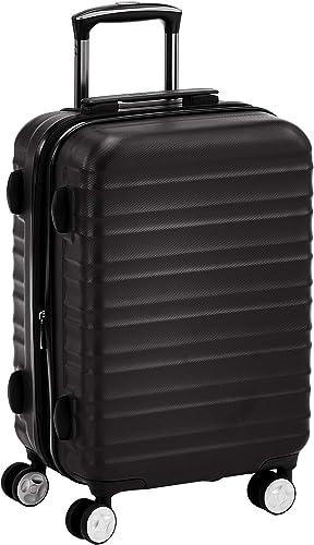 Amazon Basics Valise rigide à roulettes pivotantes de qualité avec serrure TSA intégrée - 55 cm, Noir