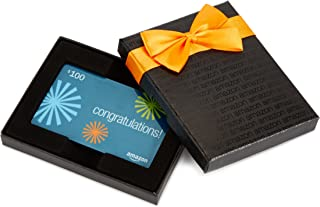 Amazon.com Gift Card in a Black Gift Box (Congratulations Card Design)