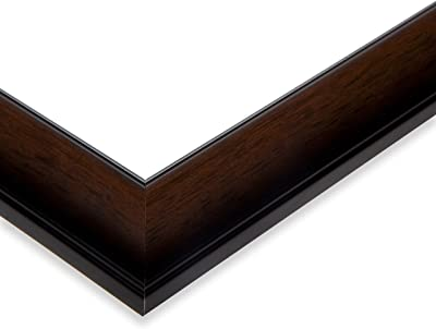 ArtToFrames NM-20x36-TM610-218-1 Deep Coffee with Gradient Wood Picture Frame